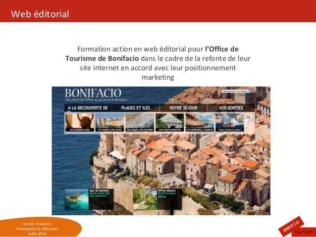 Pr sentation et r f rences d 39 emotio tourisme - Office tourisme bonifacio ...