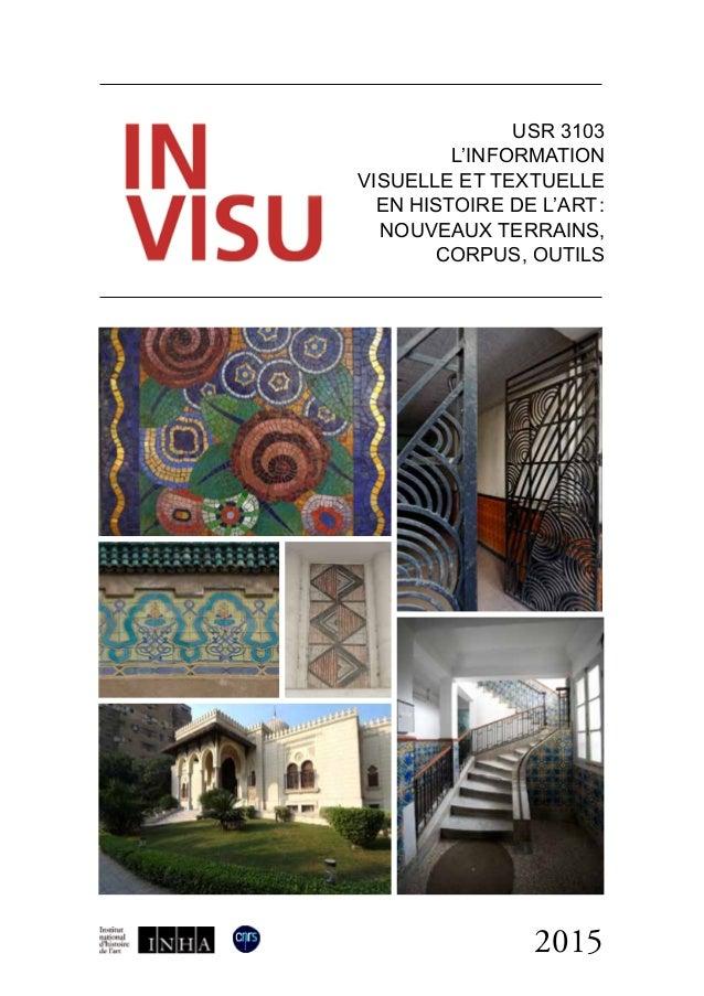 2015 USR 3103 l'information visuelle et textuelle en histoire de l'art: nouveaux terrains, corpus, outils