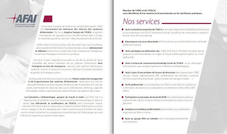 1-LA RÉFLEXION                LAFAI a pour but d'améliorer la maîtrise des systèmes d'information et leur               co...
