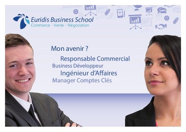 Mon avenir ?  Responsable Commercial Business Développeur  Ingénieur d'Affaires Manager Comptes Clés  Responsable Comme...