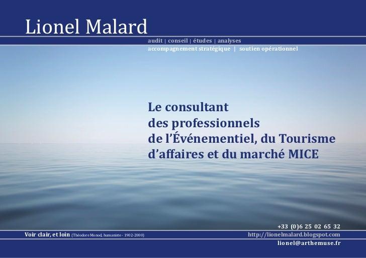 Lionel Malard                                                 audit | conseil | études | analyses                   ...