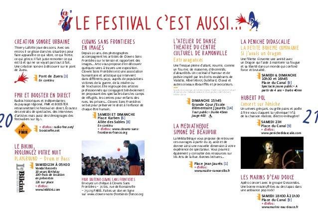 LE FESTIVAL C'EST AUSSI…  CrEation sonore urbaine  Thierry Lafollie joue des sons. Avec ses  micros il se glisse dans les ...