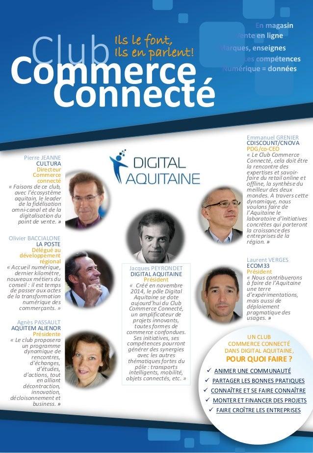 Emmanuel GRENIER CDISCOUNT/CNOVA PDG/co-CEO « Le Club Commerce Connecté, cela doit être la rencontre des expertises et sav...