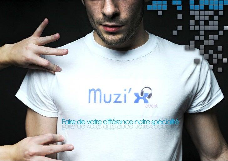 Muzi'x event - Plaquette commerciale Slide 1