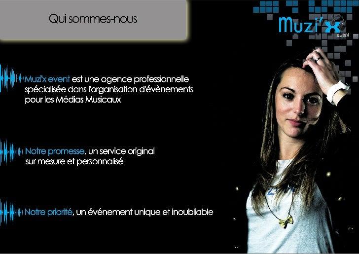 Muzi'x event - Plaquette commerciale Slide 2