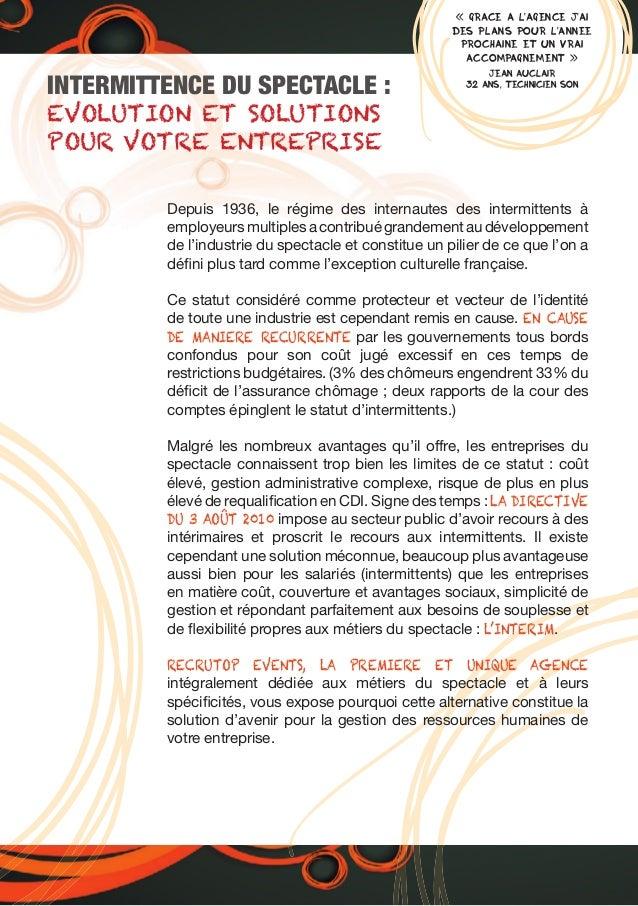 « GRACE A L'AGENCE J'AI DES PLANS POUR L'ANNEE PROCHAINE ET UN VRAI ACCOMPAGNEMENT » JEAN AUCLAIR 32 ANS, TECHNICIEN SON I...