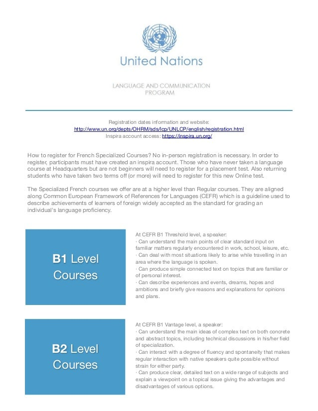 B1 Level  Courses B2 Level  Courses At CEFR B1 Threshold level, a speaker:  · Can understand the main points of clear stan...