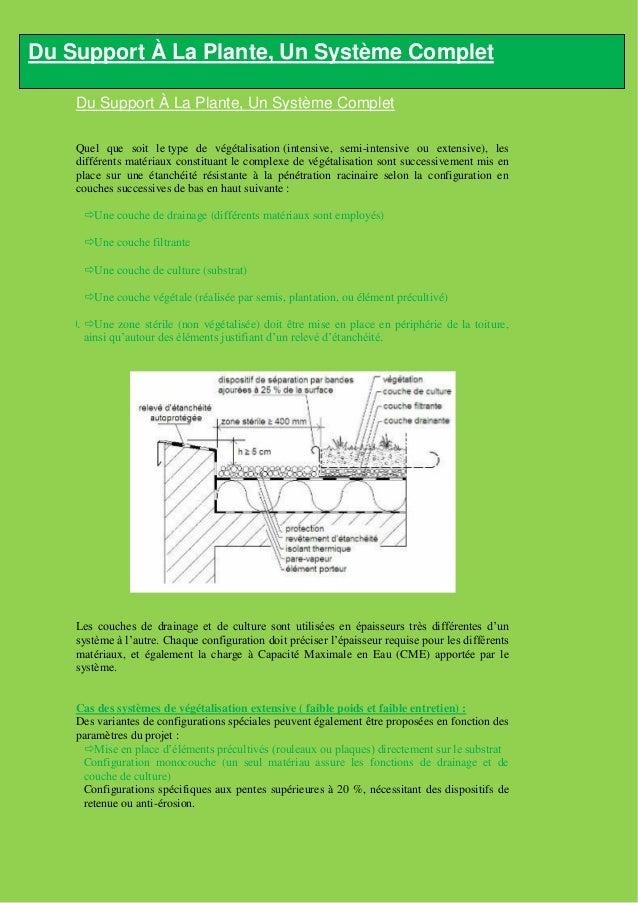 Un Concept Innovant        Un système de végétalisation de toiture est un ensemble de matériaux et de végétaux mis en    p...