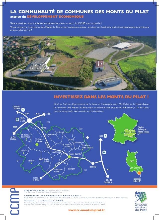 LyonSt-Étienne Région Auvergne Rhône-Alpes Loire CCMP St-Étienne S t é p h a n i e B a d u e l , Chargée de mission économ...