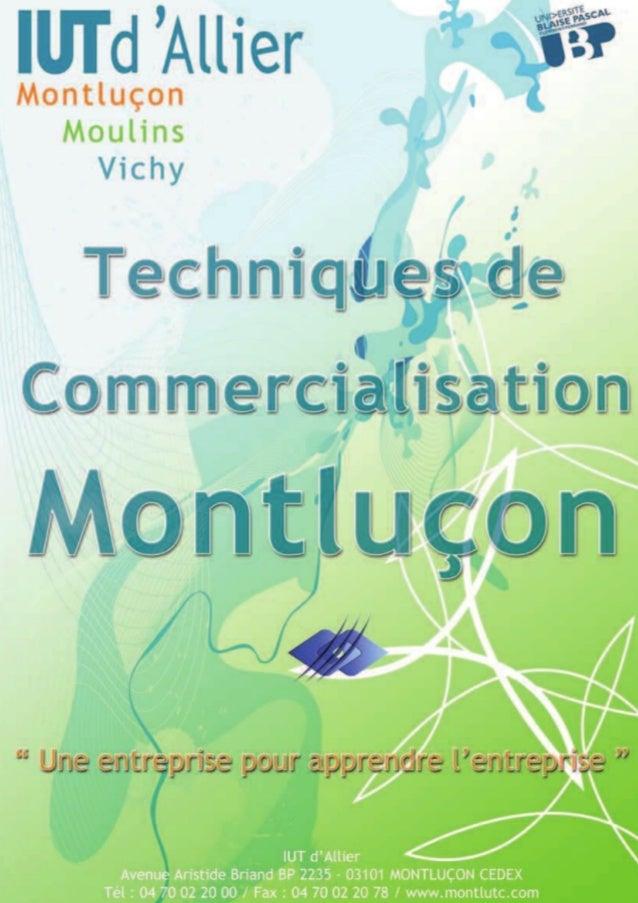 Plaquette Techniques de commercialisation Montluçon