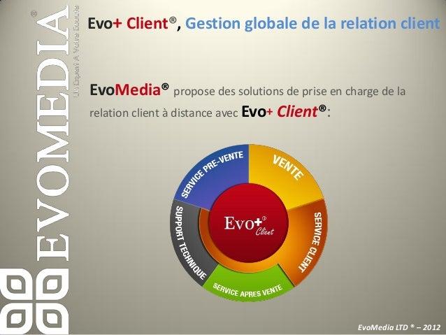 EvoLite®, Une démarche qualité certifiéeEvoMedia®      défini et formalise les processus visant à lasatisfaction    de ses...