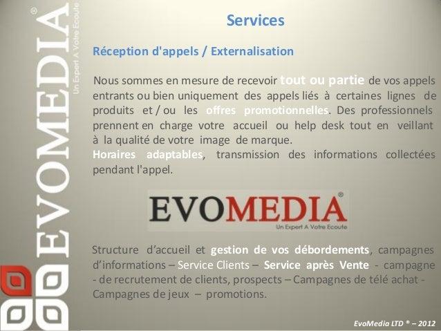 ServicesMarketing / VenteConfiez nous vos opérations de télévente, télérecouvrementou téléprospection!Marketing téléphoniq...