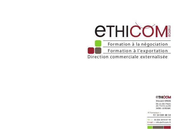 eTHICOM                                                              merce          Formation à la négociation          Fo...