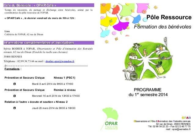 Café du Bénévole : « OPAR'Café » Temps de rencontre, de partage et d'échange entre bénévoles, animé par la coordinatrice d...