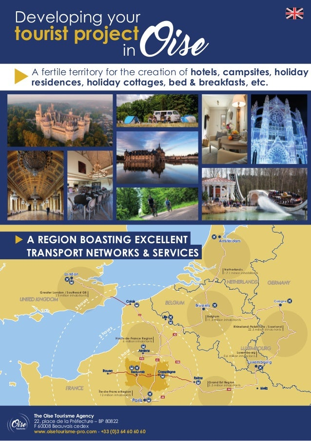 A4 Map Of France.Developing Your Tourist Project In Oise Hauts De France France