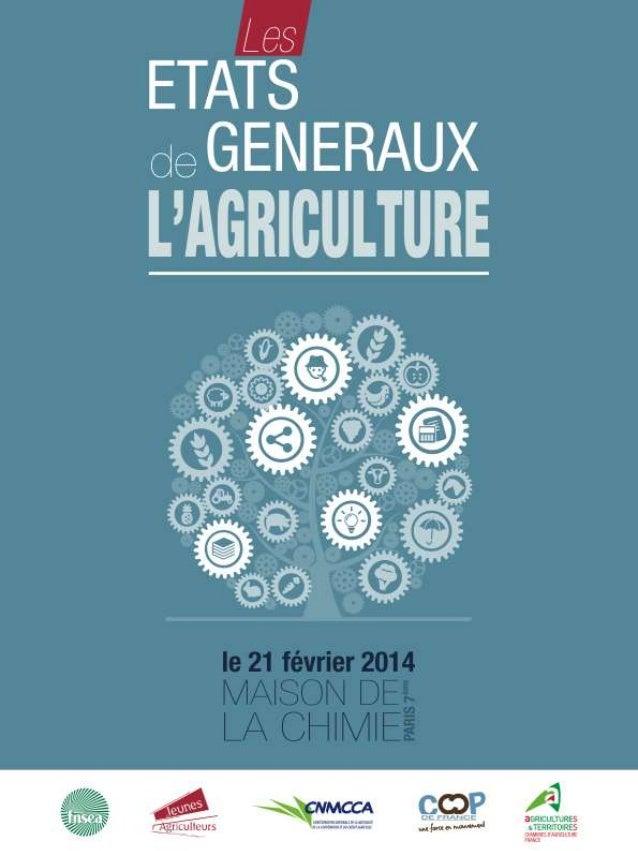 Plaquette les états_généraux_de_l'agriculture