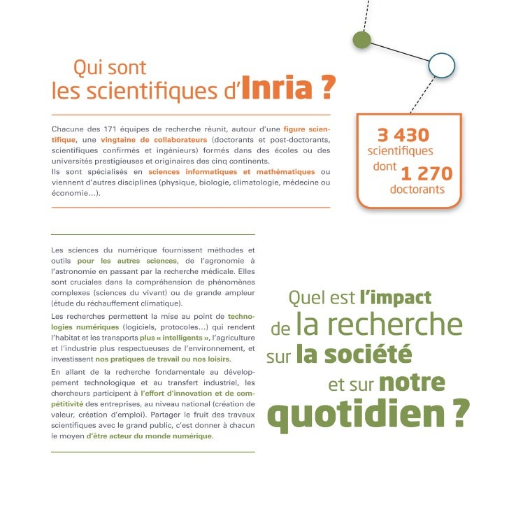 Inria - Plaquette du centre de recherche Lille - Nord Europe
