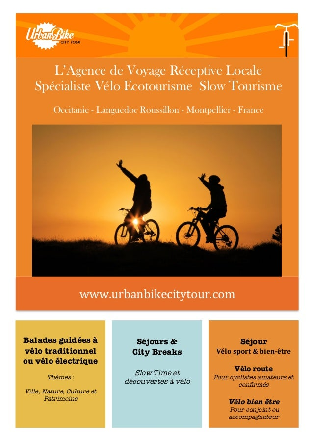 www.urbanbikecitytour.com      Balades guidées à vélo traditionnel ou vélo électrique Thèmes : Ville, Nature, Cultur...