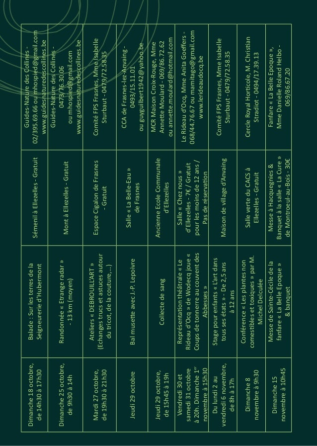 Dimanche18octobre, de14h30à17h30 Balade:Surlesterresdela Seigneureried'Hubermont SémenilàEllezelles-Gratuit Guides-Natured...