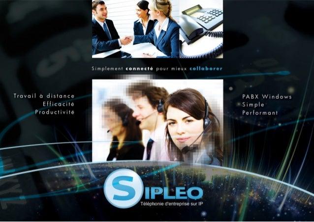 Plaquette de présentation de Sipleo