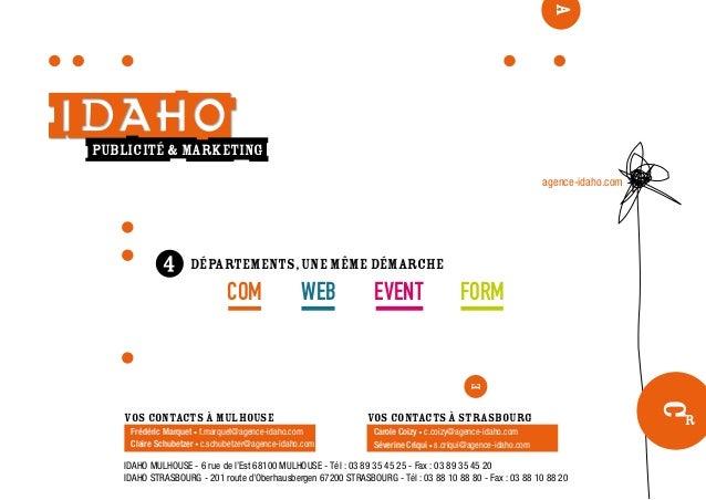 publicité & marketing C r A départements,une même démarche COM WEB EVENT FORM agence-idaho.com IDAHO MULHOUSE - 6 rue de l...