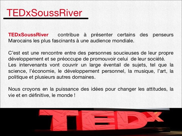 Plaquette TEDxSoussRiver Slide 2