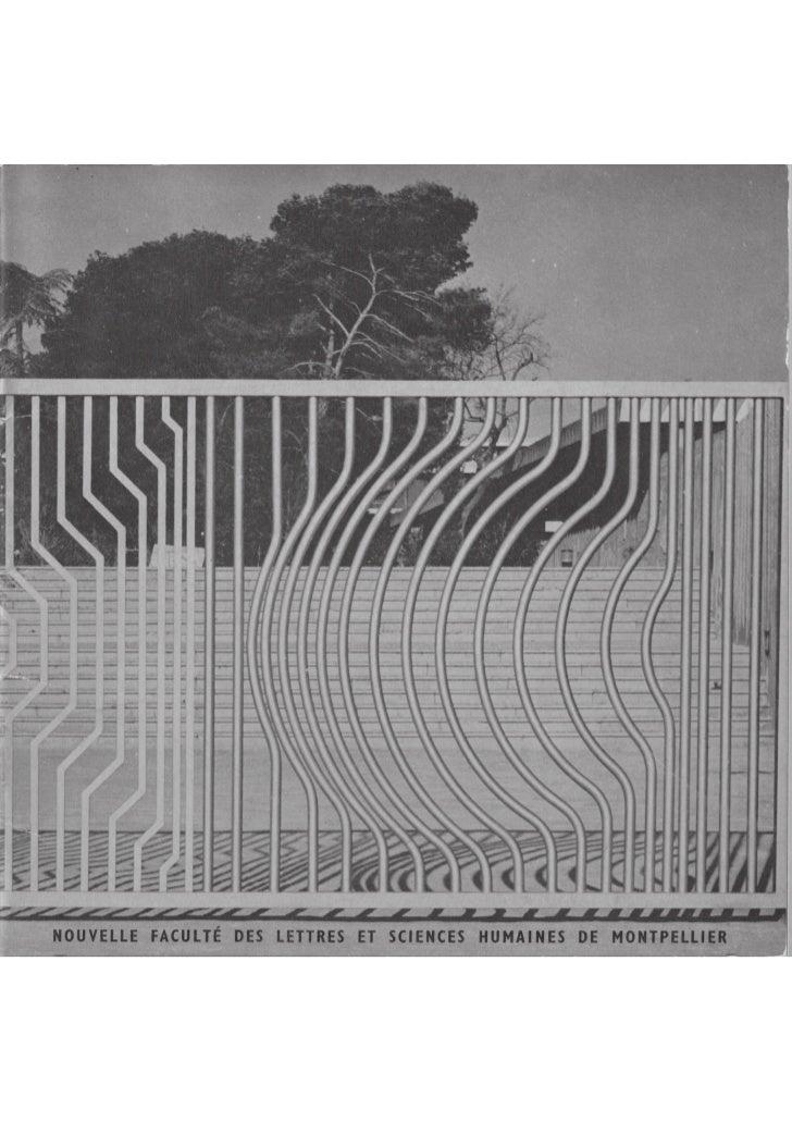 Plaquette université paul valery 1966