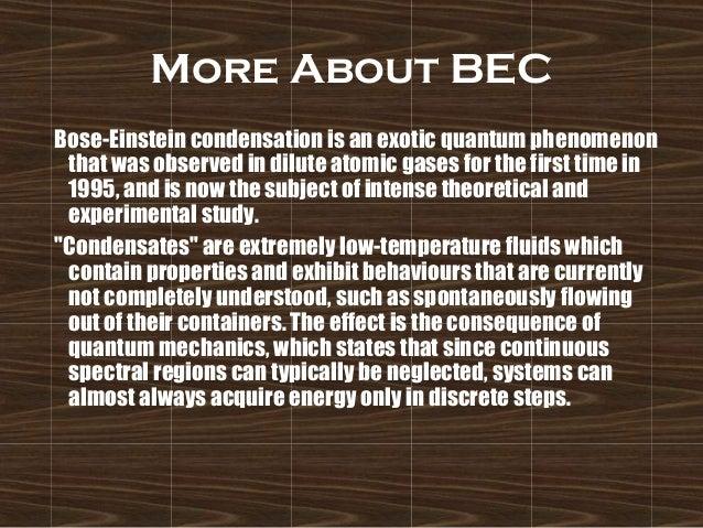 essay on bose einstein condensate