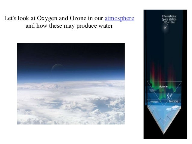 How to produce water in space