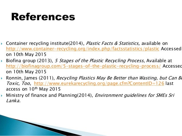 Plastic Recycling in Sri Lanka