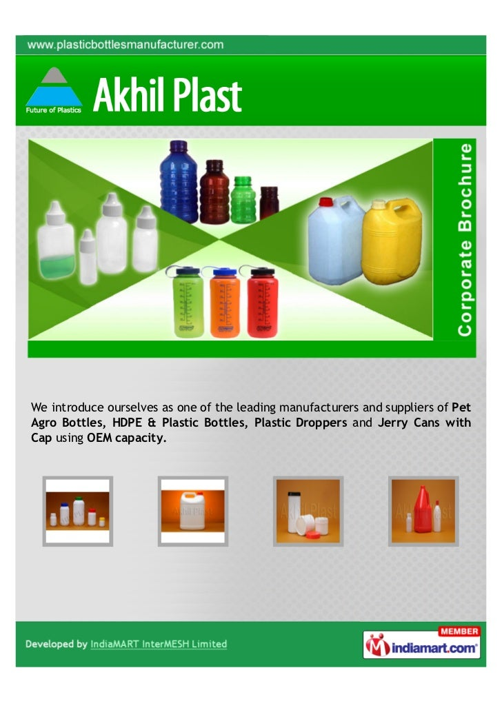 We introduce ourselves as one of the leading manufacturers and suppliers of PetAgro Bottles, HDPE & Plastic Bottles, Plast...