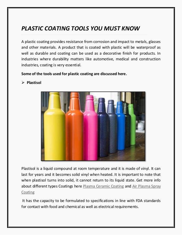 plastic coating