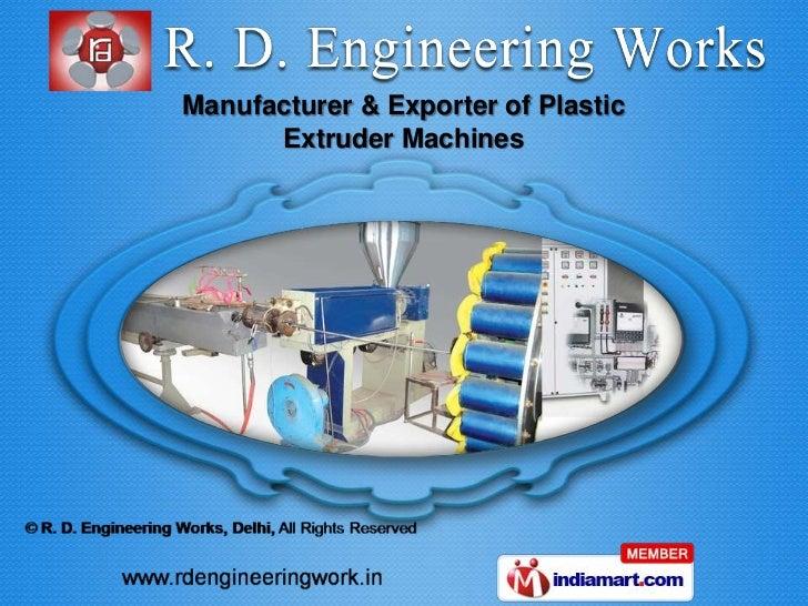 Manufacturer & Exporter of Plastic      Extruder Machines
