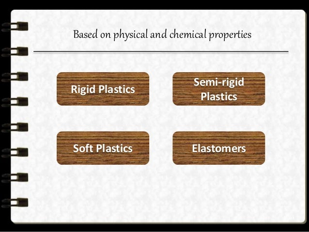 Rigid plastics These plastics have a high modulus of elasticity and they retain their shape under exterior stresses applie...