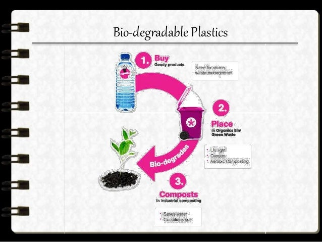 Advantages & disadvantages  Under proper conditions biodegradable plastics can degrade to the point where microorganisms ...