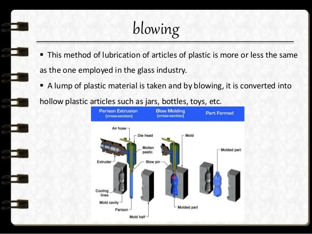 calendering  In this process the plastic material is allowed to pass between the cylindrical rollers.  The process is us...