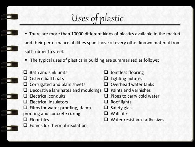 World consumption of plastic