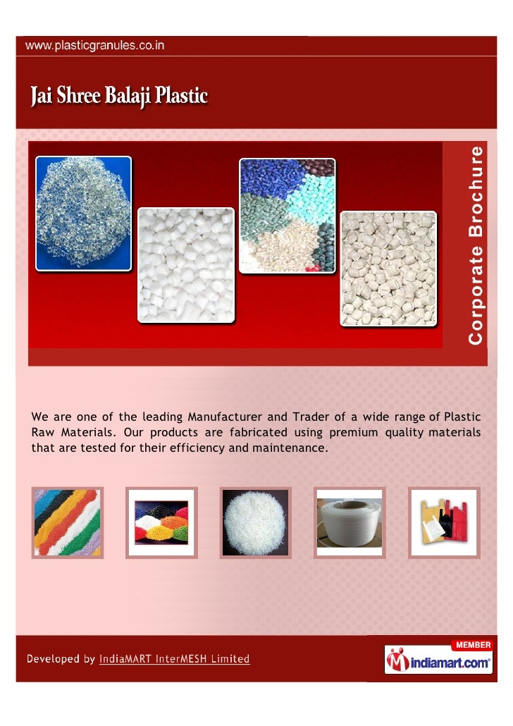 We are one of the leading Manufacturer and Trader of a wide range of PlasticRaw Materials. Our products are fabricated usi...