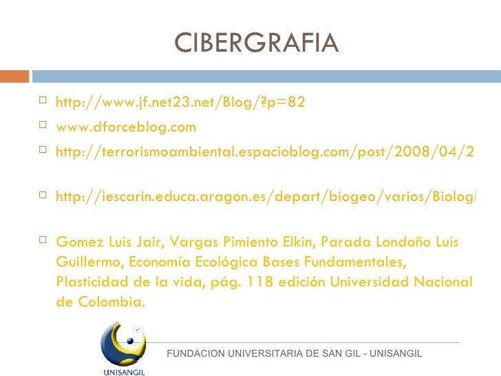 CIBERGRAFIA <ul><li>http://www.jf.net23.net/Blog/?p=82 </li></ul><ul><li>www.dforceblog.com   </li></ul><ul><li>http://ter...