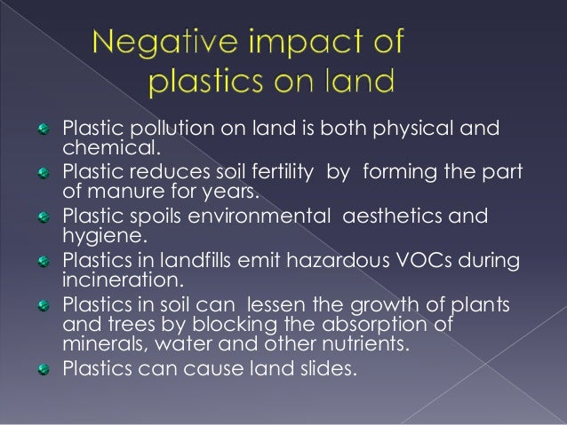 Plastic bags effects on human health - Plastic Impacts On The Natural Environment