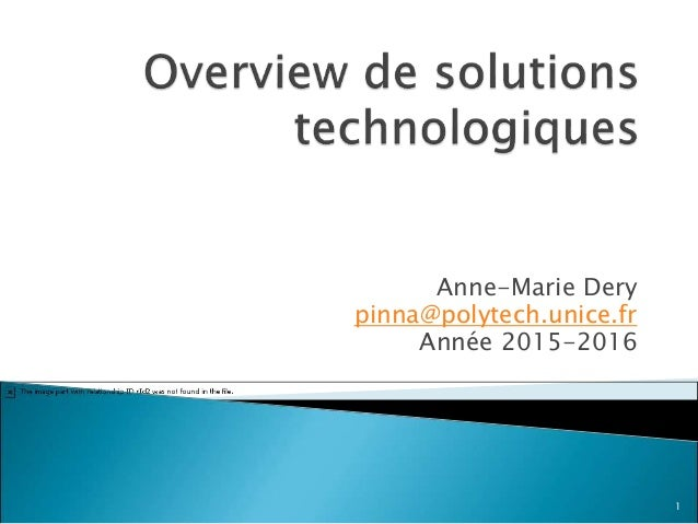 Anne-Marie Dery pinna@polytech.unice.fr Année 2015-2016 1