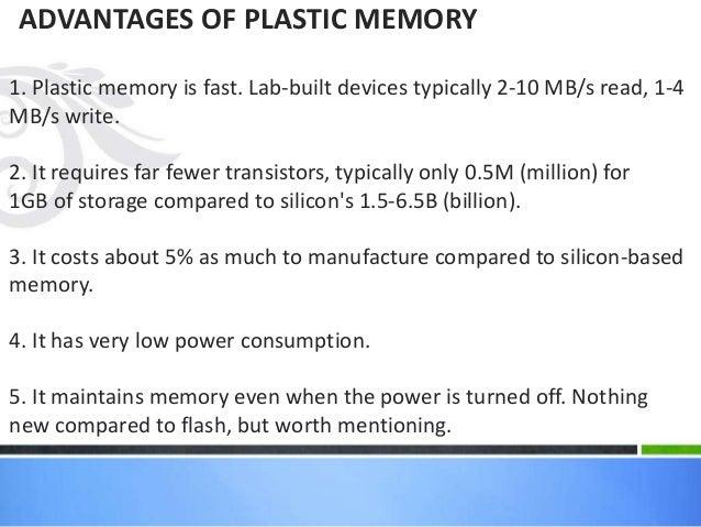Plastic memory  authorstream.
