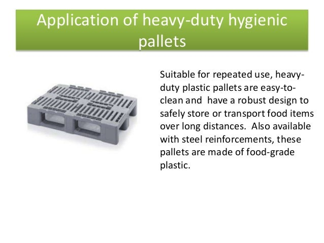 Plastic Pallets For The Food Industry