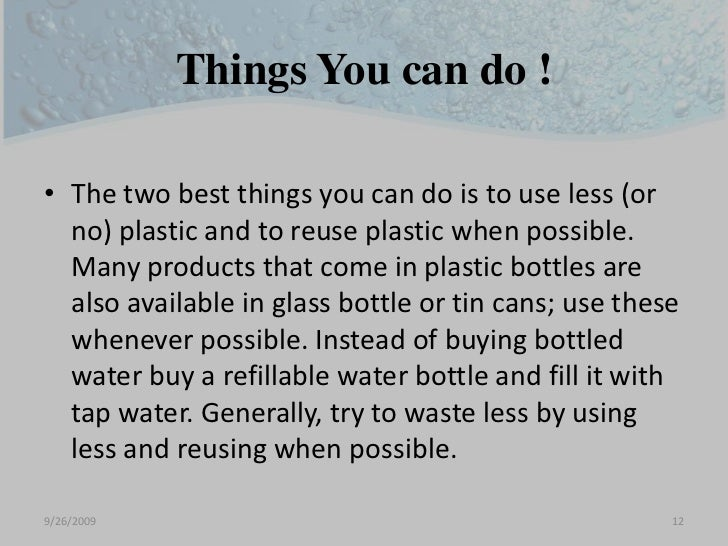essay on disadvantages of plastics Plastics becomes easy to recycle, besides the invention of new plastic recycling technology, plastic recycling protects the environment, it spreads awareness for the environment, it promotes judicial and sustainable use of resources and it creates green jobs.