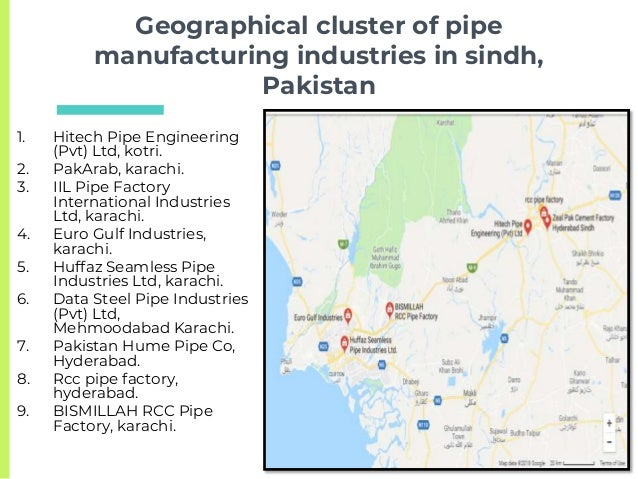 The Plastic Pipes Manufacturing Cluster In Sindh,Pakistan