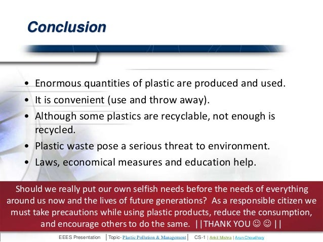 pollution conclusion essay Water pollution solutions essays: over 180,000 water pollution solutions essays, water pollution solutions term papers, water pollution solutions research paper, book.