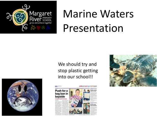 Marine Waters Presentation We should try and stop plastic getting into our school!!
