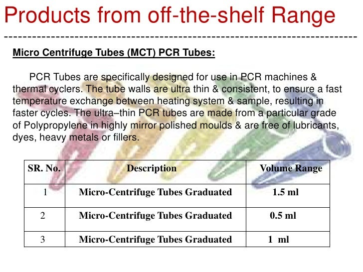 Micro Centrifuge Tubes 0.5 ml / 1.5 ml 2 ml,