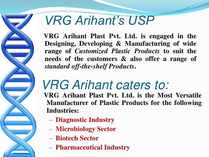 VRG Arihant's USP<br />    VRG Arihant Plast Pvt. Ltd. is engaged in the Designing, Developing & Manufacturing of wide ran...