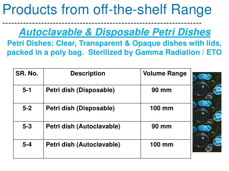 Autoclavable & Disposable Injection Molded Containers in Polycarbonate, Polypropylene, Polystyrene, etc.